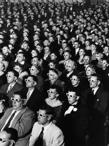 The audience at the premiere of Bwana Devil, photographed by J. R. Eyerman for Life magazine
