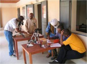 Researchers at work, Timbuktu