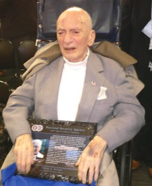 96-year-old Samuel Snyder inducted into the NSA Hall of Honor, 2007