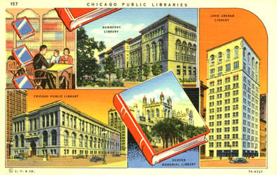 Chicago Public Libraries from the ALA's digital archives, Sjoerd Koopman Library Postcard Collection