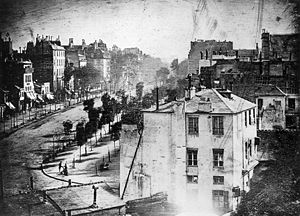 Earliest surviving photograph by Daguerre, 1838