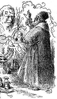 Rabbi Loew and Golem by Mikoláš Aleš, 1899