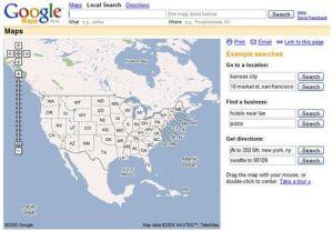 Google Maps, February 8, 2005