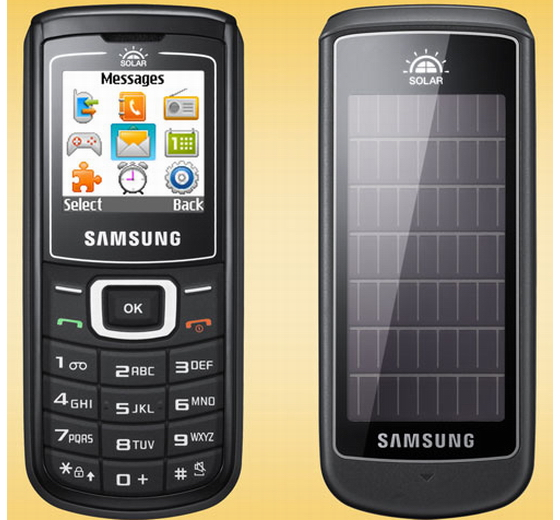 Solar powered Samsung phone